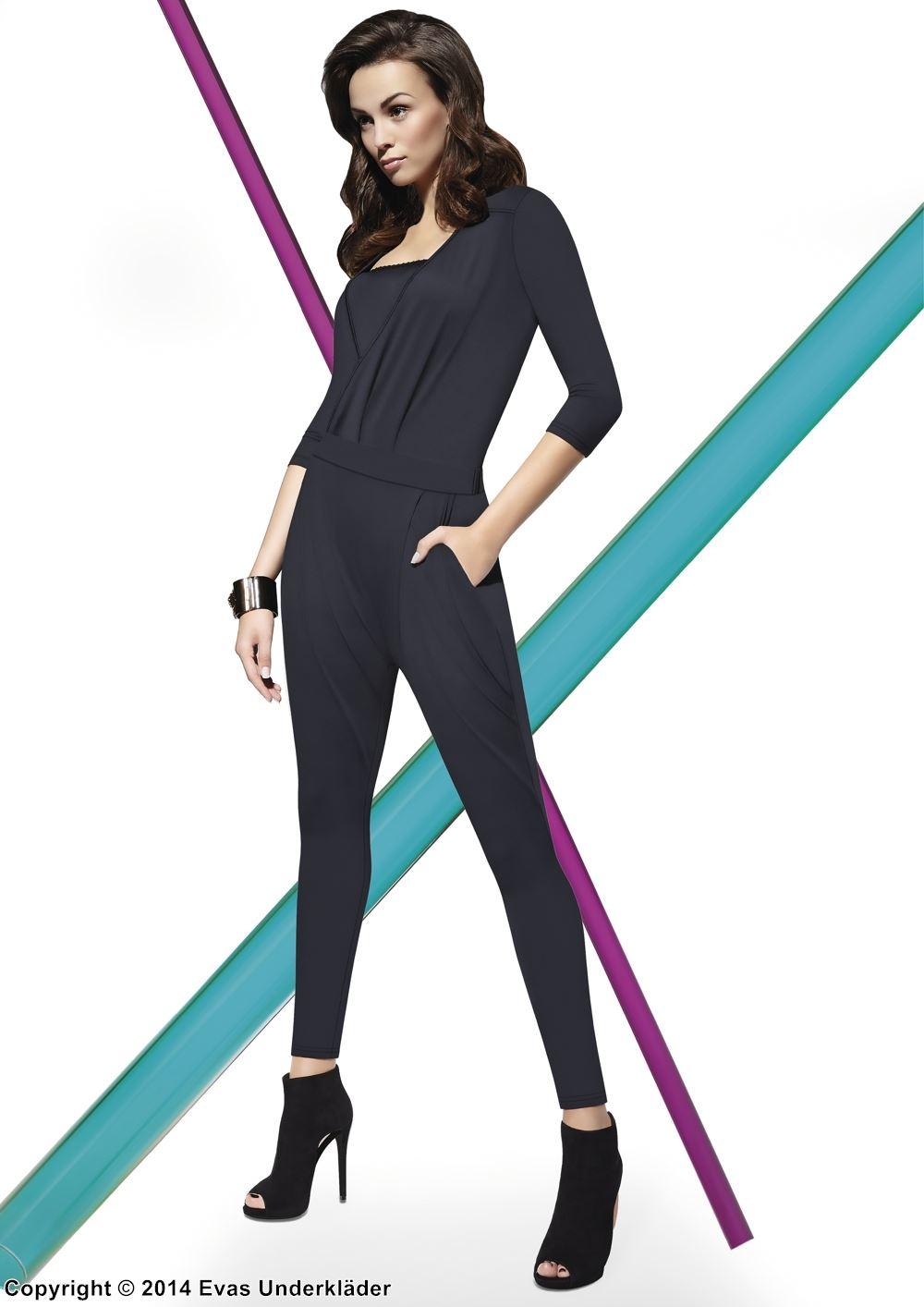 Elegant byxdress med 3/4-ärm